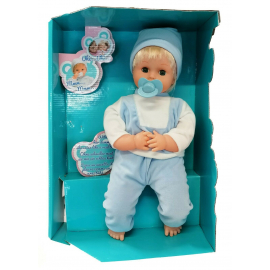 Marty Doll 40 cm with Sounds Finger in Mouth Infant game Little Girl in Box, Blonde