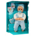 Baby Boy Beautiful Newborn Doll 43 cm Crying Without Pacifier Male-Blue Game Baby Girl