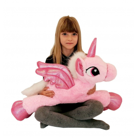 Large Unicorn Plush 60cm Pink Pony Horse Kids Adult Boys