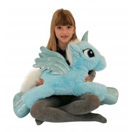 Grande Peluche Unicorno 60cm Bianco Pony Cavallo Bambini Ragazzi Adulti
