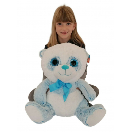 Big Plush Bear Panda 45cm Soft Glitter Eyes and Delicate Kids Boys