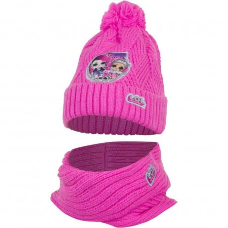 L.O.L. Surprise LOL 2pieces Pon Pon Hat Winter Neck Warmer Girl 52/54