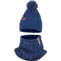 Spider Man 2 pieces Hat with Pon Poncho + 3-4years Winter Children's Neck Warmer