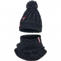Spider Man 2 pieces Hat with Pon Poncho + 3-4years Winter Children's Neck Warmer Black