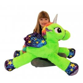 80cm Gigante Peluche Unicorno Pony Cavallo Fucsia per Bambini Ragazzi Adulti San Valentino
