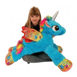 80cm Gigante Peluche Unicorno Pony Cavallo Verde per Bambini Ragazzi Adulti San Valentino