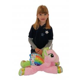 65cm Grande Peluche Unicorno Pony Cavallo Rosa per Bambini Ragazzi Adulti San Valentino