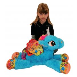 65cm Grande Peluche Unicorno Pony Cavallo Verde per Bambini Ragazzi Adulti San Valentino