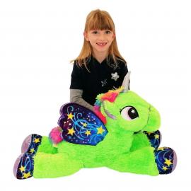 65cm Grande Peluche Unicorno Pony Cavallo Fucsia per Bambini Ragazzi Adulti San Valentino