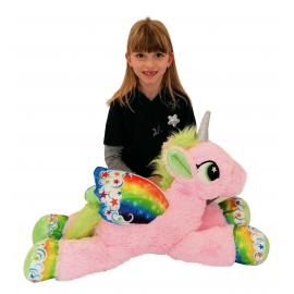 80cm Gigante Peluche Unicorno Pony Cavallo Rosa per Bambini Ragazzi Adulti San Valentino