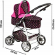 SUPER TOYS Large Pram Stroller + Doll 45 cm Boy Game Girl