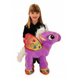 Unicorn 50 cm Large Plush Standing Pony Green Horse for Children Boys