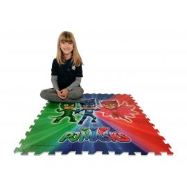 Pj Masks Super Pigiamini 9 x Puzzle da Pavimento Tappeto di gomma 90x90cm Gioco