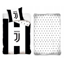 Juventus Logo 3 Pieces Set Single Bed Duvet Cover, Pillowcase, Bed Linen Corners