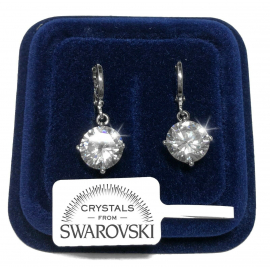 Punto Luce ring Women's earrings pl. 18K white gold with Swarovski Crystals 01