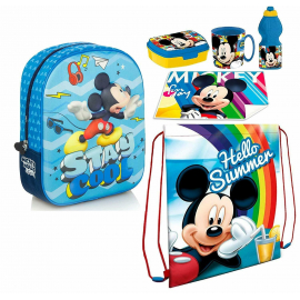 Disney 3D Mickey Mouse Backpack, Sports Bag, Kindergarten School Bag