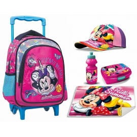 Minnie Mouse Unicorn Set Backpack Backpack Trolley, Hat, Snack Box, School