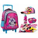 Minnie Mouse Unicorno Set Zainetto Zaino Trolley, Cappello,Box Merenda,Scuola