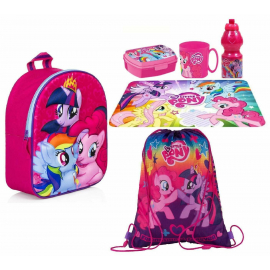 My Little Pony Set Backpack 3D Backpack, Sport Bag, Kindergarten School Snack Bag