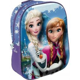 Frozen Anna Elsa e Olaf Zainetto Zaino 3D Scuola Materna Asilo tempo Libero