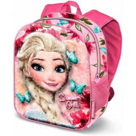 Frozen Summer Paillettes Zainetto Zaino 3D Scuola Materna Asilo tempo Libero