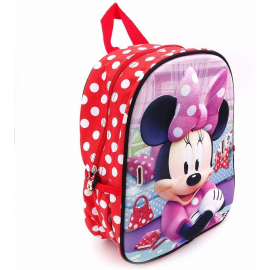 Minnie Mouse Disney Dotty Schoolbag 3D Backpack Kindergarten Kindergarten Leisure