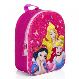 Disney Princesses Pink Schoolbag 3D Backpack Kindergarten Kindergarten Leisure
