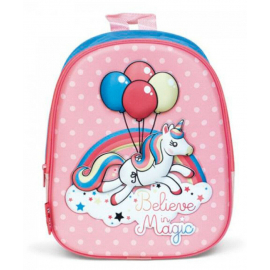 Unicorn Balloons Schoolbag 3D Backpack Kindergarten Kindergarten Leisure