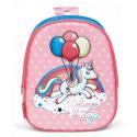 Unicorn Balloons Schoolbag 3D Backpack Kindergarten Kindergarten Leisure