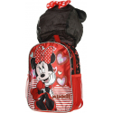 Minnie Mouse with hood Schoolbag Backpack Kindergarten Kindergarten Leisure