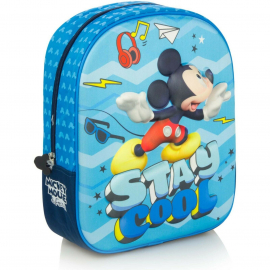 Mickey Mouse Mickey Mouse Blue Schoolbag Backpack 3D Kindergarten Kindergarten Leisure