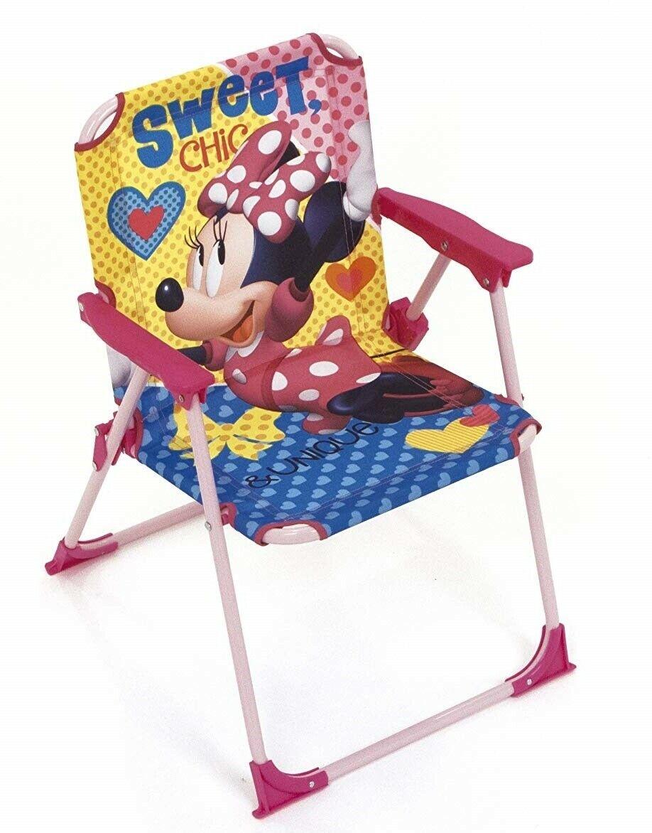 Sedie Pieghevoli Per Il Mare.Minnie Mouse Sedia Pieghevole Per Bambini Giardino Campeggio