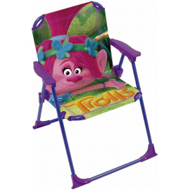 Trolls Poppy Folding Chair for Children Garden Camping Beach Aluminum