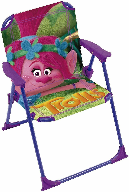 Sedie Pieghevoli Per Spiaggia.Trolls Poppy Sedia Pieghevole Per Bambini Giardino Campeggio