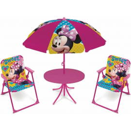 Princess Garden Lounge, Terrace set 4 pieces, 2 chairs, table, umbrella