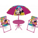 Minnie Mouse Garden Lounge, Terrace set 4 pieces, 2 chairs, table, umbrella