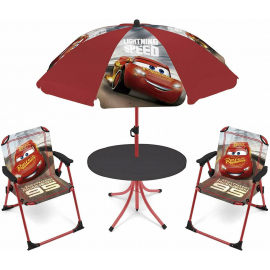Frozen Elsa Salotto da Giardino,Terrazza set 4 pezzi, 2 sedie, tavolo, ombrellone