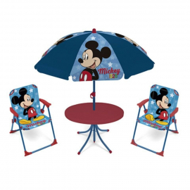 Mickey Mouse Garden Lounge, Terrace set 4 pieces, 2 chairs, table, umbrella