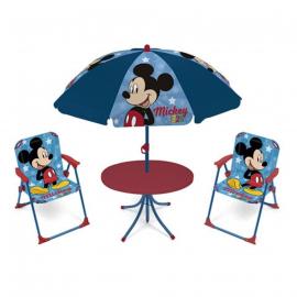 Topolino Salotto da Giardino,Terrazza set 4 pezzi, 2 sedie, tavolo, ombrellone