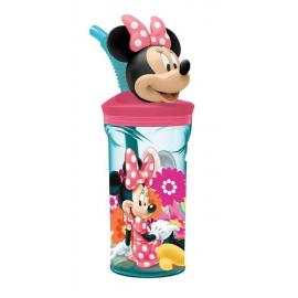 Disney Frozen Elsa Bicchiere 3D con Figurina e Cannuccia Bambini