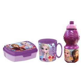 Frozen 2 Set Colazione Box Porta Merenda + Borraccia + Tazza - Bicchiere scuola