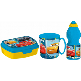 Super Mario Set Breakfast Snack Box + Bottle + Cup - School glass