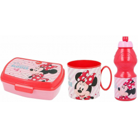 Cars Disney Set Breakfast Snack Box + Bottle + Cup - School glass