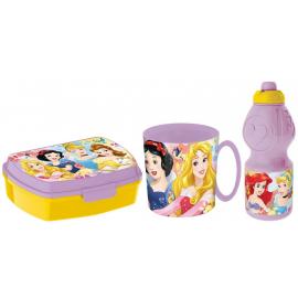 Minnie Mouse Elettric Set Colazione Box Porta Merenda + Borraccia + Tazza - Bicchiere scuola