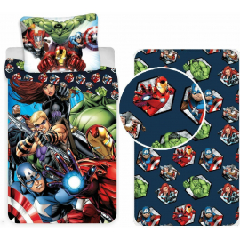 Avengers Hulk 3Pezzi Single Bed Set Duvet Cover, Pillowcase + Sheets with Corners