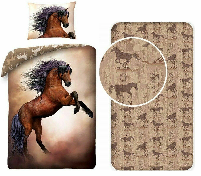Copripiumino Singolo Con Cavalli.Cavallo Dipinto 3pezzi Set Letto Singolo Copripiumino Federa