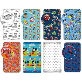 Disney Sheets with Corners Under Single Girl Bed 90x200cm 100% cotton