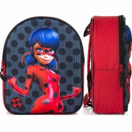 LADYBUG Paillettes Backpack 3D Backpack, Sports Bag, School Snack Holder Set
