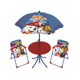 Spiderman Salotto da Giardino,Terrazza set 4 pezzi, 2 sedie, tavolo, ombrellone