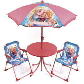 Frozen Elsa Anna Garden Lounge, Terrace set 4 pieces, 2 chairs, table, umbrella